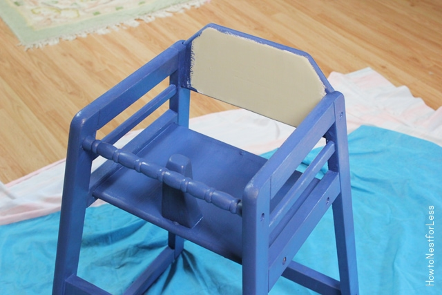 painted highchair makeover