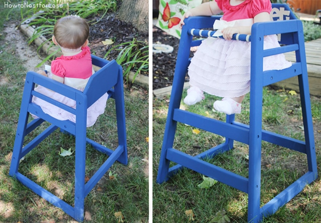 painted stenciled high chair