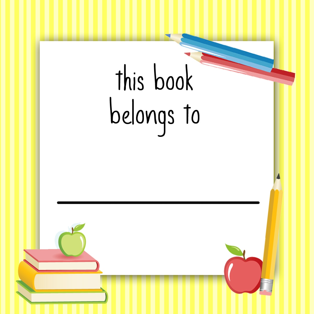 Free Printable Labels For Kids School Books Www