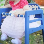 stenciled highchair makeover