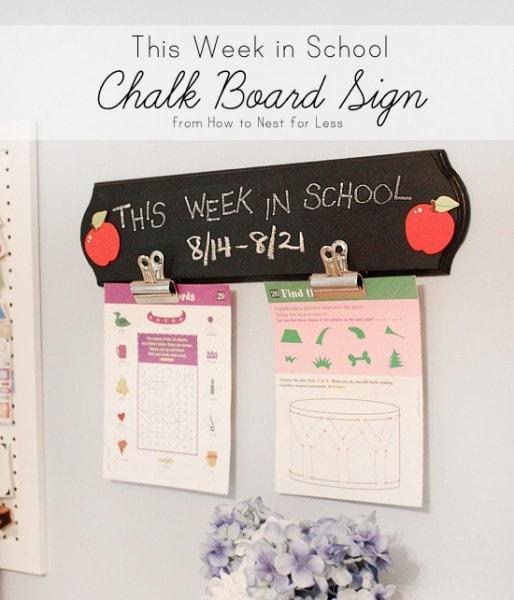 this week in school chalkboard sign tutorial