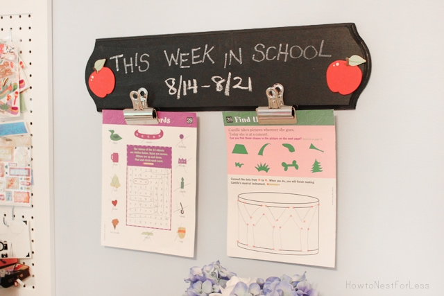 This Week In School Chalk Board Sign