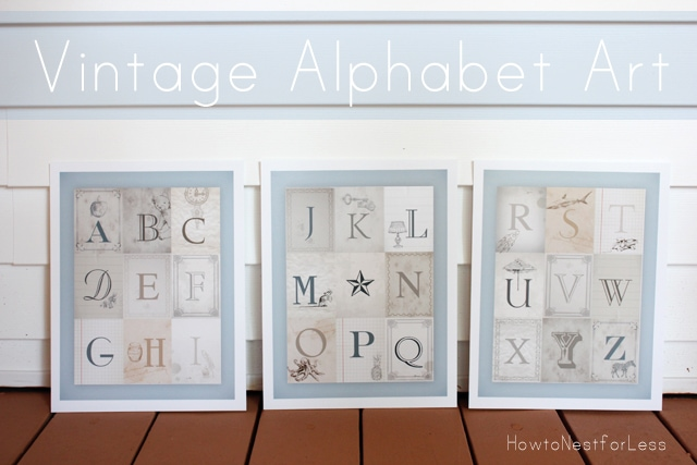 vintage alphabet art free printable