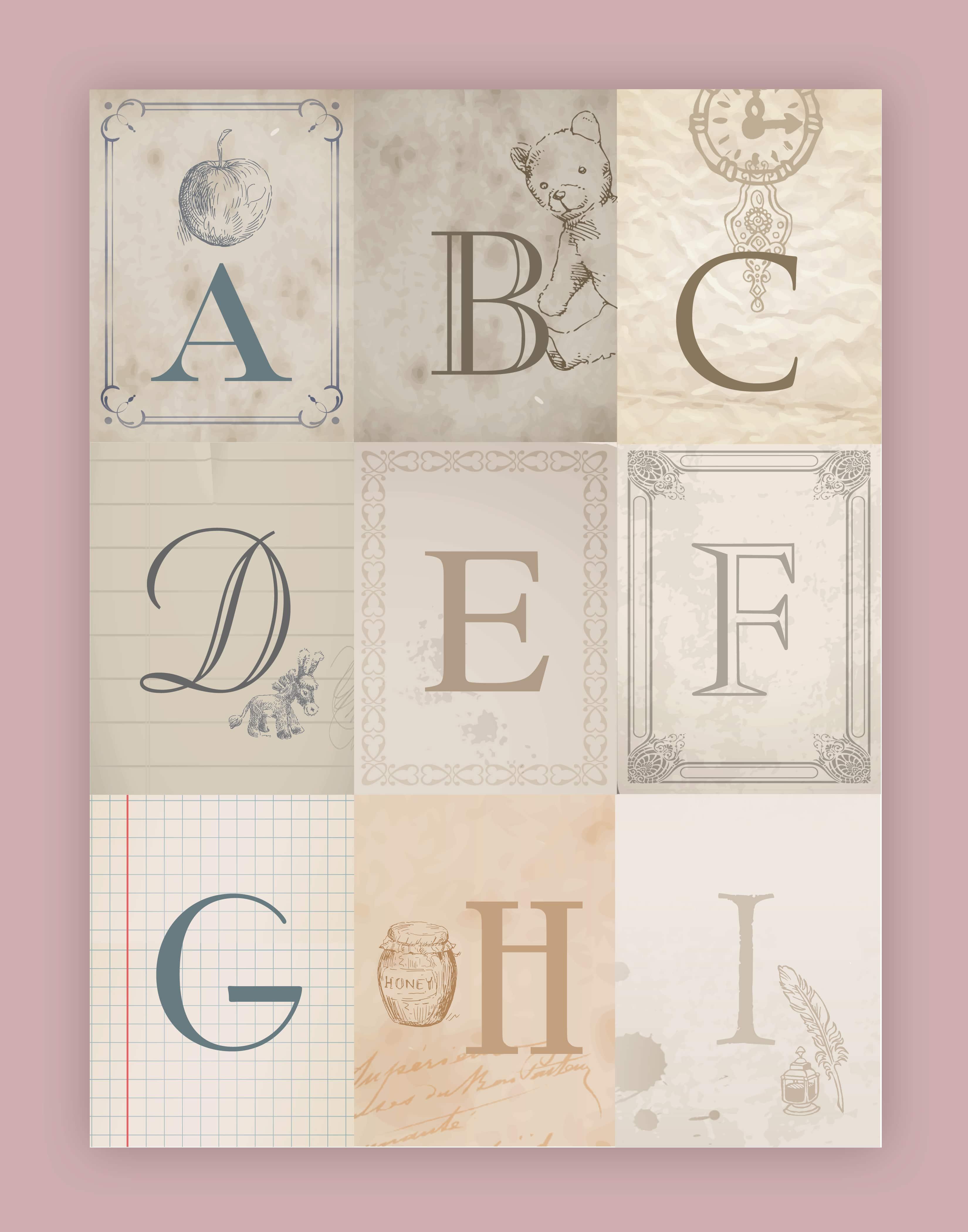 Nursery Alphabet Wall Art Free Printables How To Nest