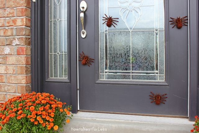 Halloween spider front door