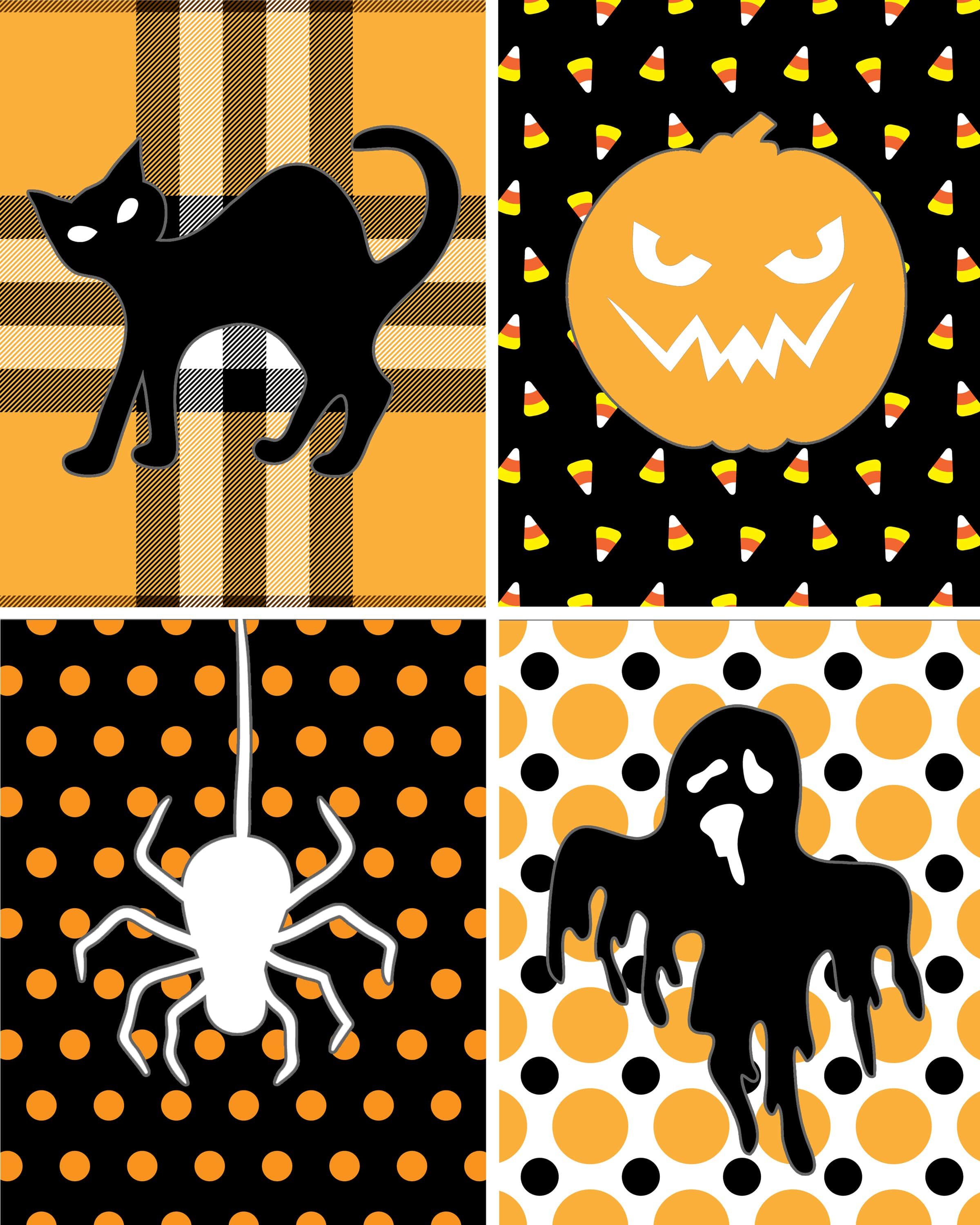 Halloween free printable how to nest for less - Printable halloween decorations ...
