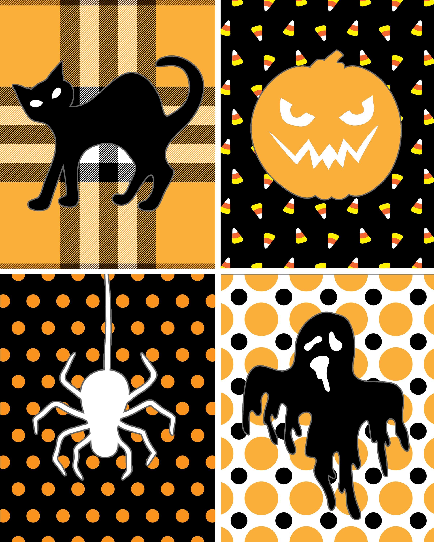 halloween silhouette free printables