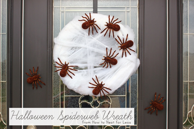 halloween spider web wreath