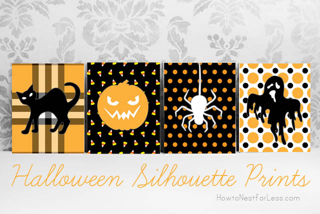hallween silhouette prints