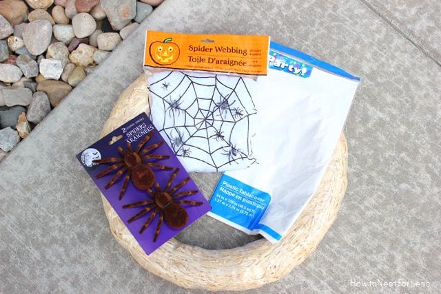 hallween spider wreath