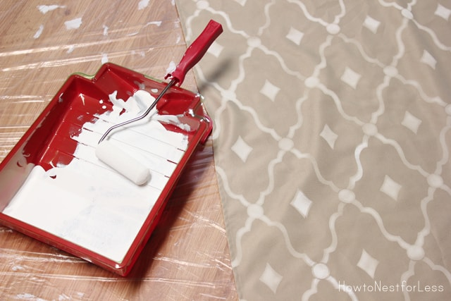 how to stencil curtain panels