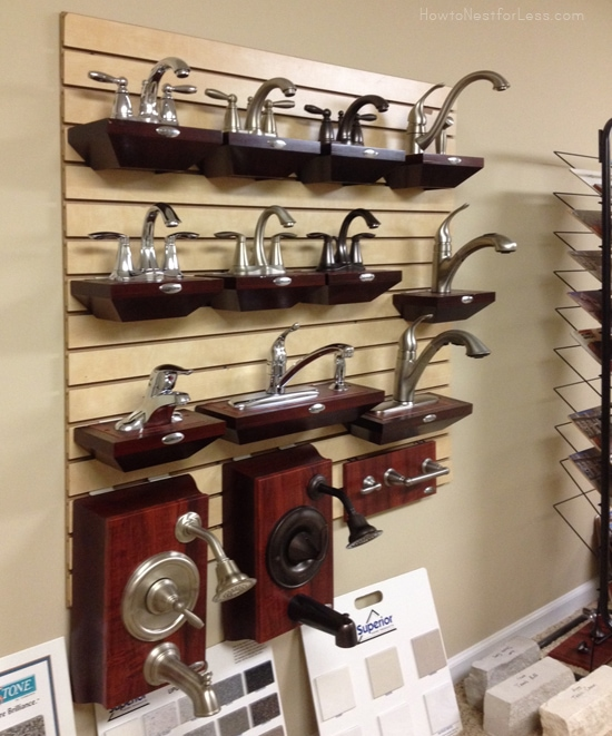 moen plumbing fixtures display