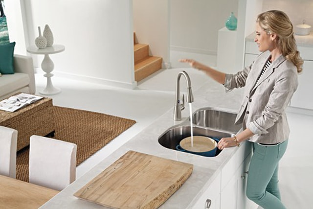 motion sense faucet from Moen