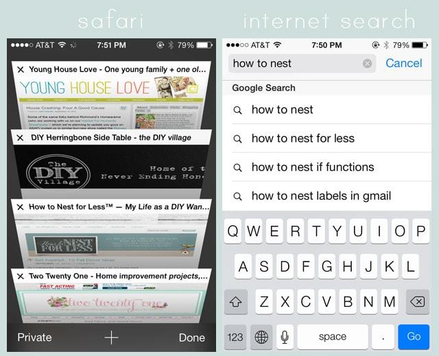 New Iphone Ios 7 Screenshot Safari