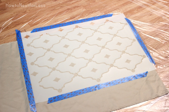 stenciled curtain panels tutorial