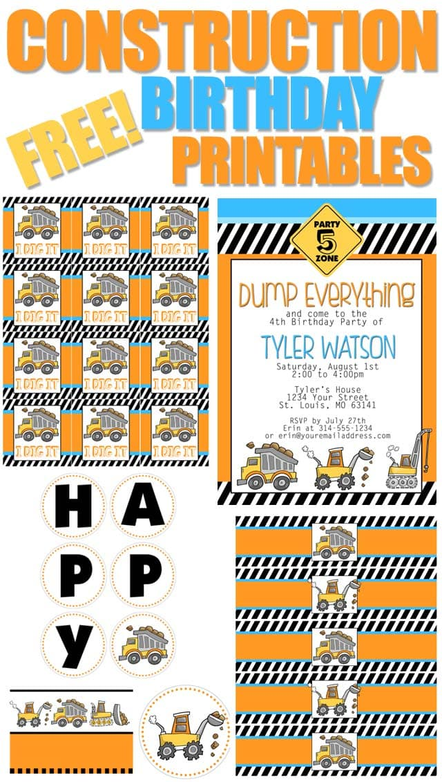 photo relating to Free Printable Construction Birthday Invitations named Structure Birthday Social gathering with Free of charge Printables - How in direction of