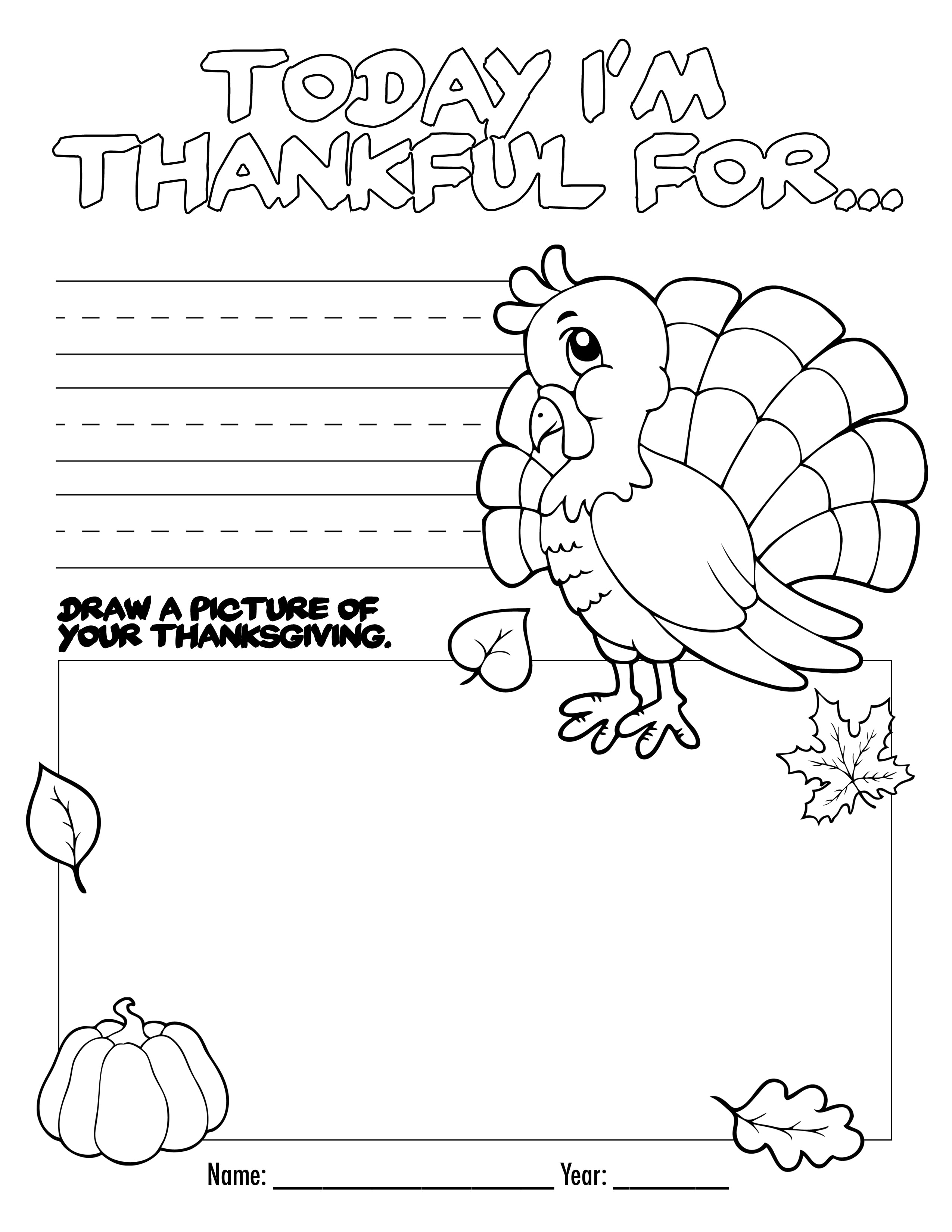 Thanksgiving Color Book Free Printable