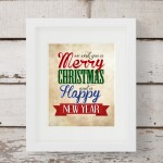 Merry Christmas & Happy New Year Free Printable