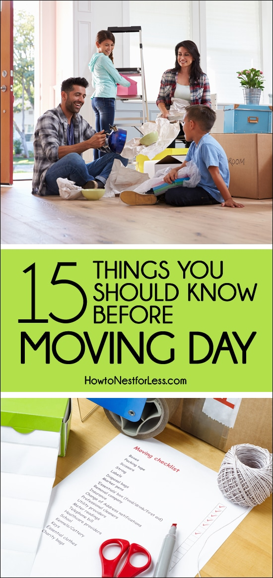 moving days tips and checklist