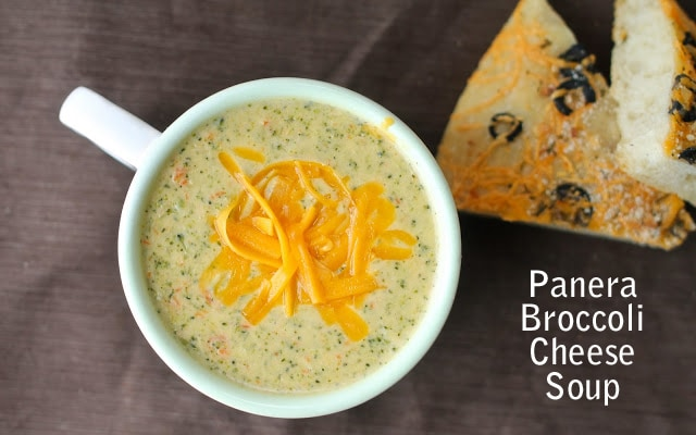 panera broccoli cheese soup recipe