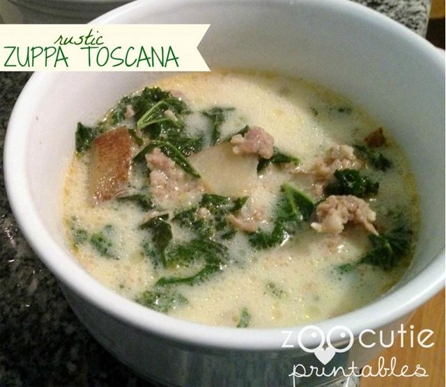 rustic zuppa toscana soup recipe