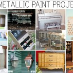 10 metallic paint makeover projects