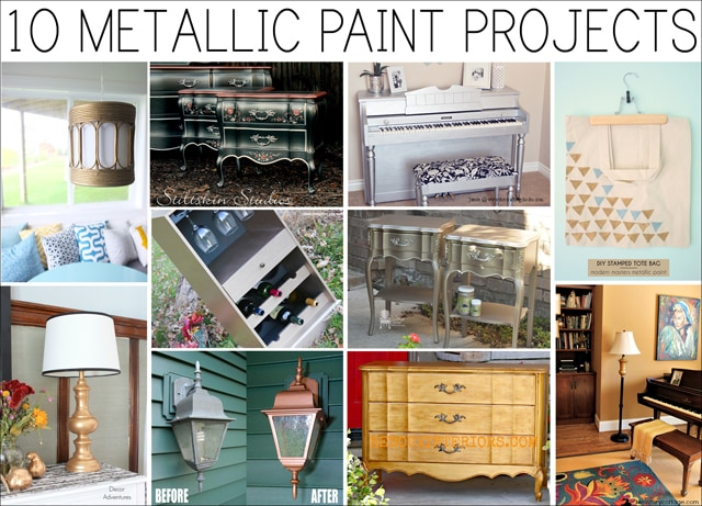 Get Inspired: 10 Metallic Paint Projects