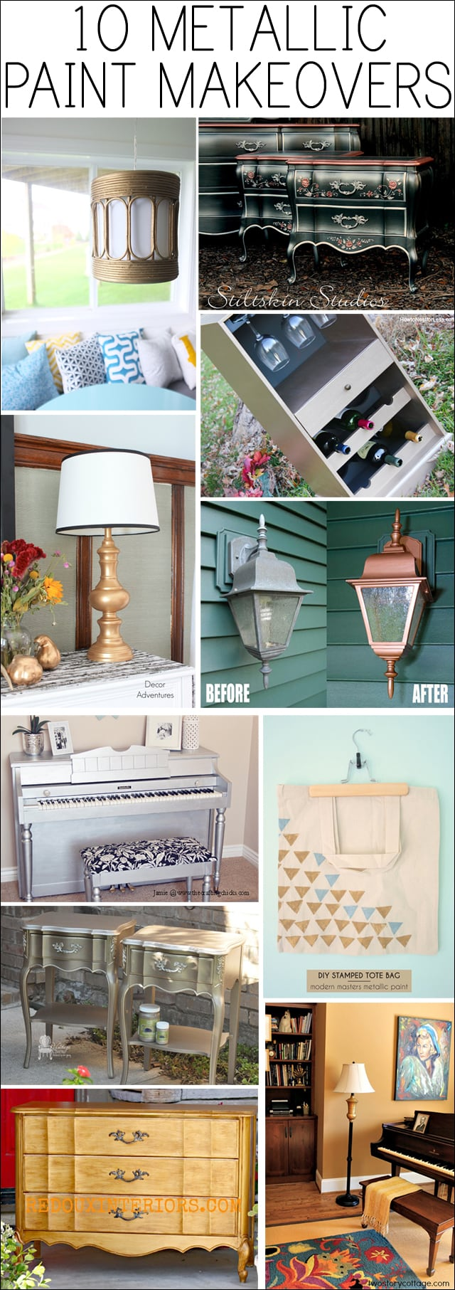 10 metallic paint makeovers