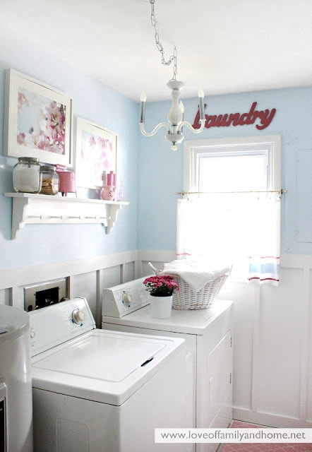 get inspired 10 laundry room makeovers how to nest for less. Black Bedroom Furniture Sets. Home Design Ideas
