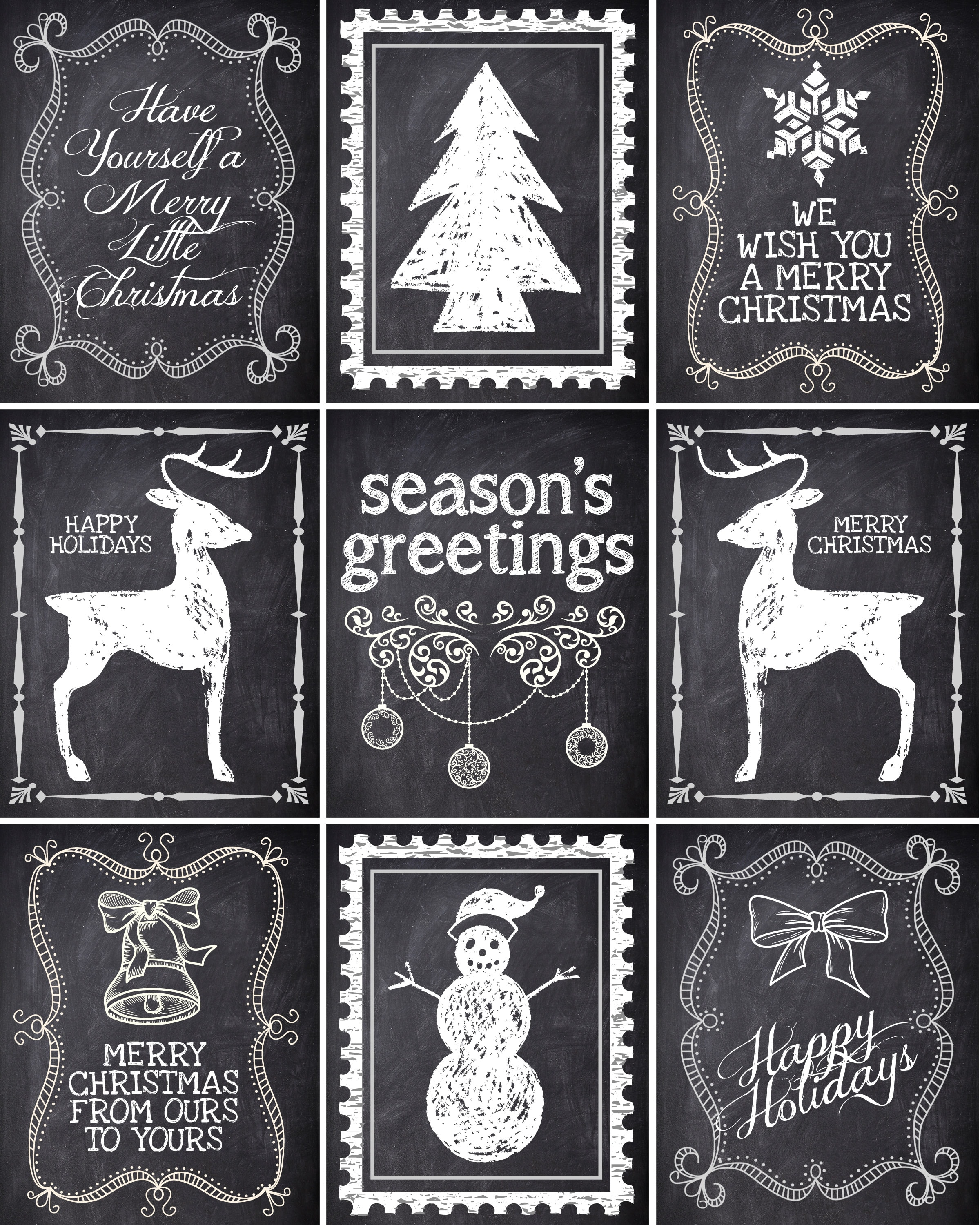 Magic image in printable christmas labels