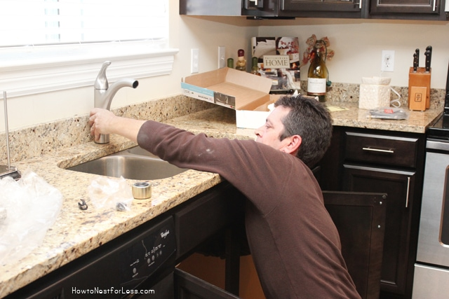 DIY installing a kitchen faucet