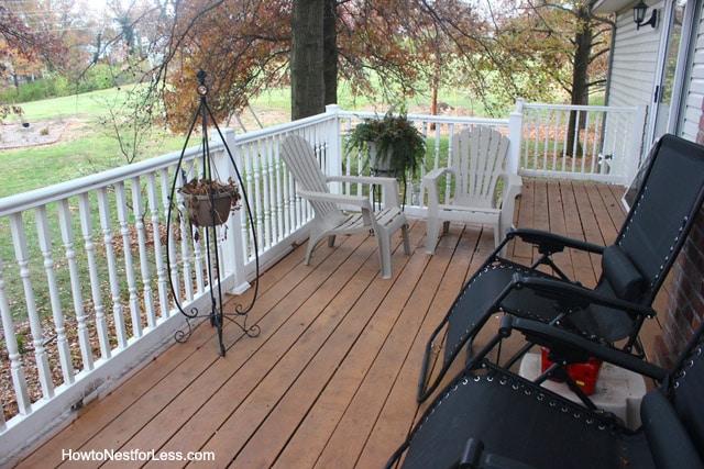 back deck fall maintenance