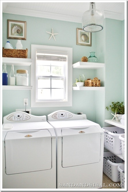 Laundry Room Makeovers together with Fantastic Cape Cod House Plans Decorating Ideas besides 2012 12 01 archive as well Arredamento Stile Country besides Stacked Stone Fireplace With Wood Mantle Living Room Beach Style With White L  White Vase Wall Of Windows. on coastal cottage decorating