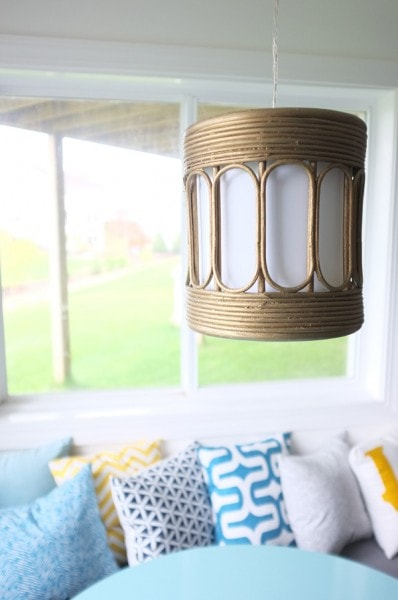 brass pendant gold light
