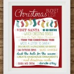 Christmas Bucket List 2013 {free printable}
