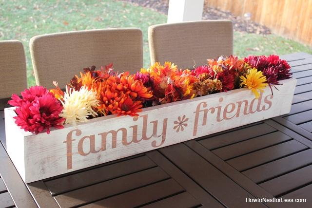 fall table trough centerpiece