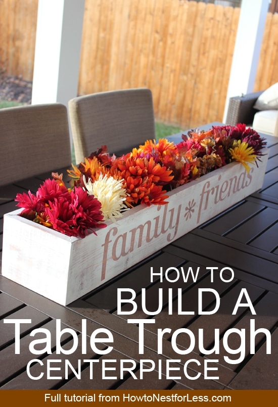 how to build a table trough centerpiece