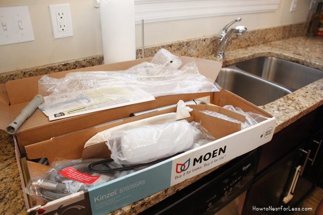 installing a kitchen faucet