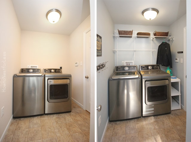 laundry room makeover before after