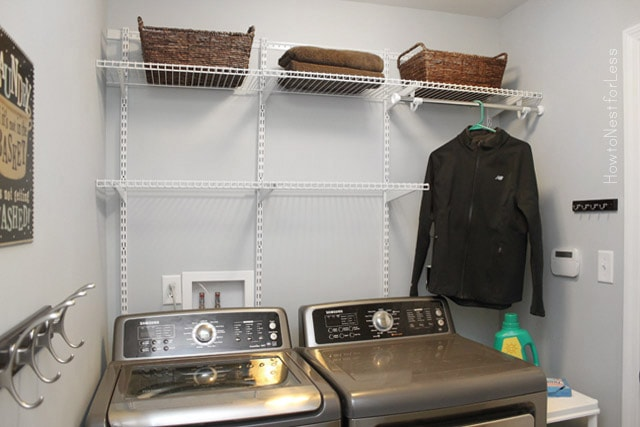 neighbor laundry room makeover how to nest for less. Black Bedroom Furniture Sets. Home Design Ideas