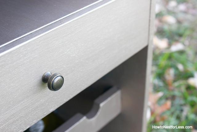 metallic gold wine cabinet