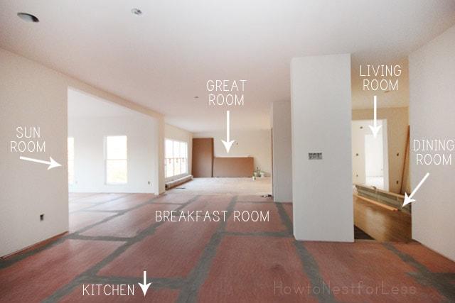 new house open floorplan
