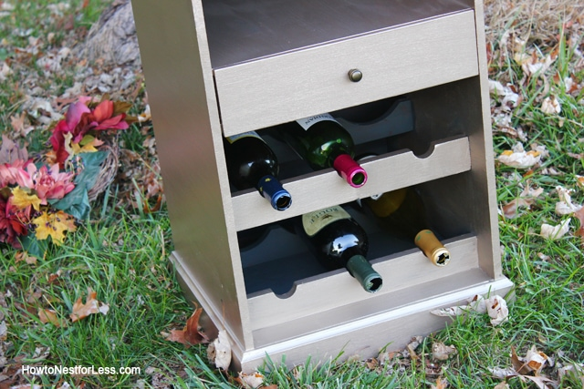 painted gold wine cabinet