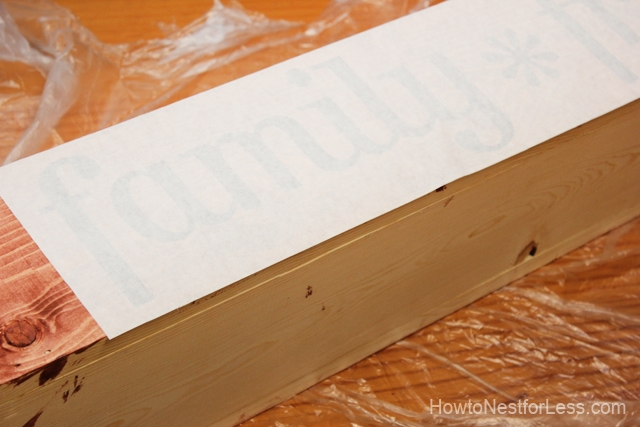 stenciled table trough