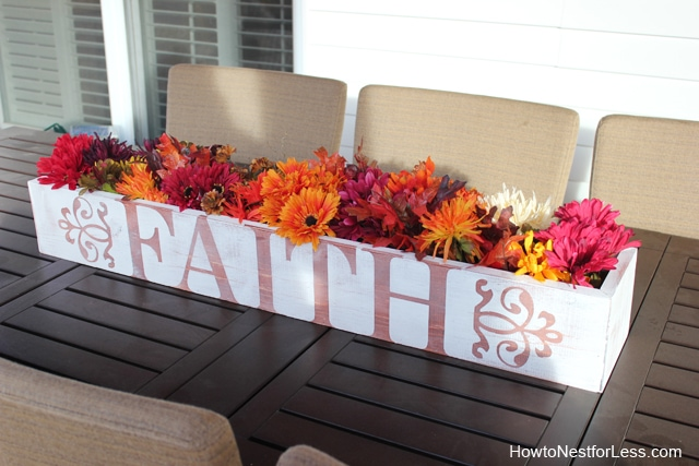 table trough fall centerpiece