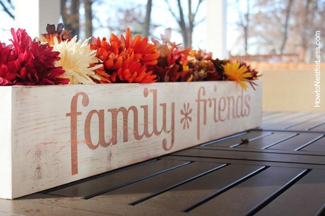 table trough flower centerpiece