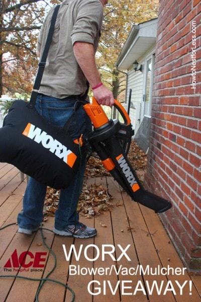 worx trivac blower vac mulcher GIVEAWAY
