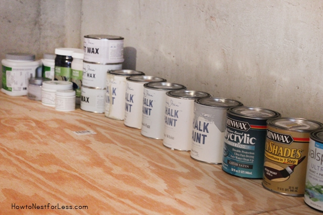 basement paint storage