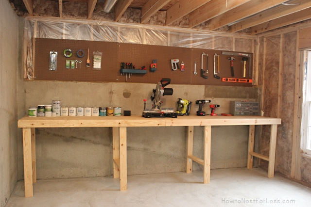 weekend project basement workshop how to nest for less