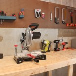 basement workshop peg board